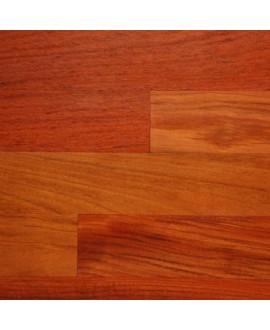 Parquet exotique jatoba verni en contrecollé massif salle de bain largeur 140mm épaisseur 15mm