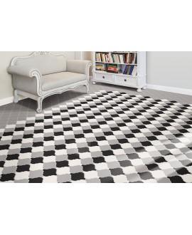 Carrelage arabesque provençal blanc noir 20x12.5cm et 10.5x6.5cm, natprovençal noir