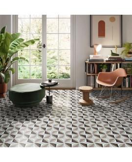 Carrelage décor imitation carreau ciment moderne 20x20cm rectifié, santafun winter2, R10
