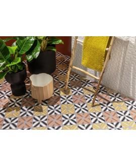 Carrelage décor imitation carreau ciment coloré design 20x20cm rectifié, santafun summer2, R10