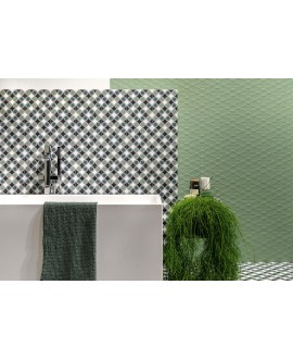 Carrelage décor imitation carreau ciment 20x20cm rectifié, santafun joy1, R10