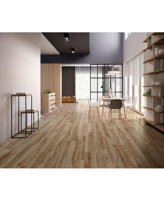 Carrelage grande longueur imitation parquet moderne aspect bois brut, sol et mur, XXL 30x180cm rectifié, santabwood natural