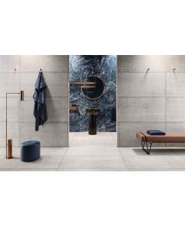 Carrelage imitation béton brut mat, rectifié,  Santaform ciment