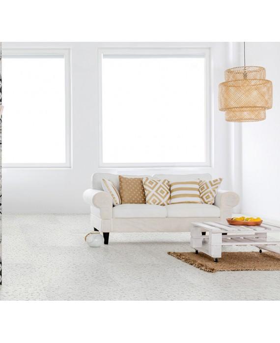 carrelage effet terrazzo et granito mat 60x60 cm rectifié,  marmette blanc