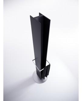 Sèche-serviette radiateur électrique noir mat 170x14.1cm anttower avec porte-serviette  chromé
