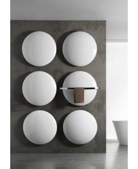 Sèche-serviette eau chaude rond design salle de bain avec la barre porte-serviettes Antsaturne de couleur