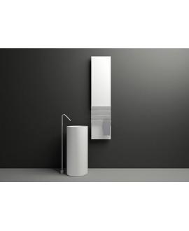 Sèche-serviette radiateur eau chaude vertical contemporain design AntflapsB 171x35cm de couleur