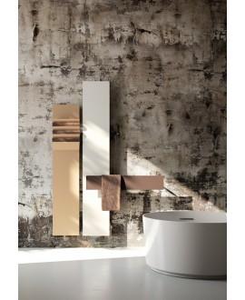 Sèche-serviette radiateur eau chaude contemporain vertical design AntflapsA 201x35cm de couleur