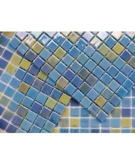 emaux de verre piscine mosaique salle de bain acquaris caribe 2.5x2.5 cm