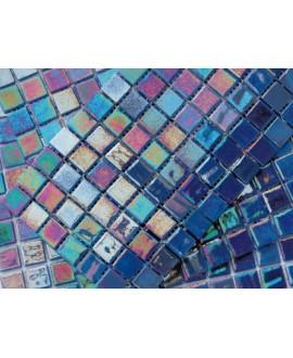 emaux de verre piscine mosaique salle de bain acquaris cobalto 2.5x2.5 cm