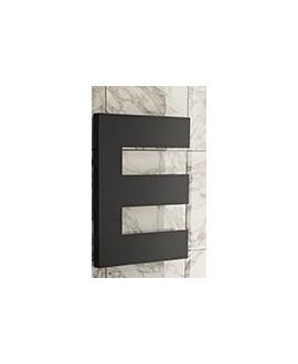 Sèche-serviette radiateur eau chaude contemporain design, Antpetine gauche noir mat 68.5x55cm