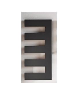 sèche-serviette radiateur eau chaude design, Antpetine droit noir mat 122.5x55cm