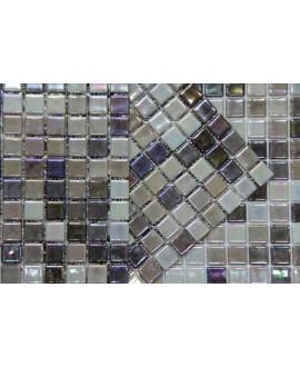 emaux de verre piscine mosaique salle de bain acquaris coffee 2.5x2.5 cm