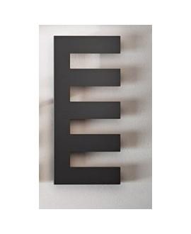 sèche-serviette radiateur eau chaude design, Antpetine gauche noir mat 122.5x55cm