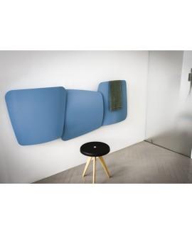 Sèche-serviette radiateur eau chaude design Antscudi bleu mat 72x173cm