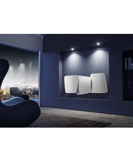 Sèche-serviette radiateur eau chaude design Antscudi O horizontal blanc mat 72x173cm