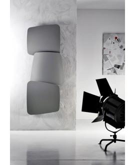 Sèche-serviette radiateur eau chaude design contemporain Antscudi V vertical gris mat 72x173cm