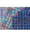 Emaux de verre bleu foncé aspect métal mosaique salle de bain acquaris jacinto 2.5x2.5 cm