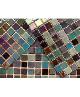 emaux de verre mosaique piscine salle de bain acquaris maldivas 2.5x2.5 cm