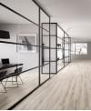 Carrelage imitation parquet contemporain blanchi, bureau, grand format grande longueur 30x180cm rectifié, santabwood white