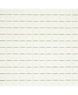 Emaux de verre blanc mat piscine mosaique salle de bain urban blanco 2.5x2.5 cm