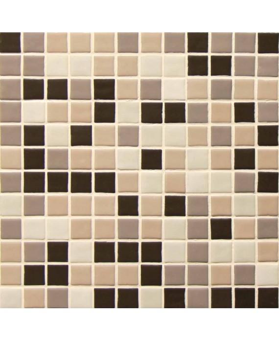 Emaux de verre mat couleurs mélangées piscine mosaique salle de bain urban coffee 2.5x2.5 cm