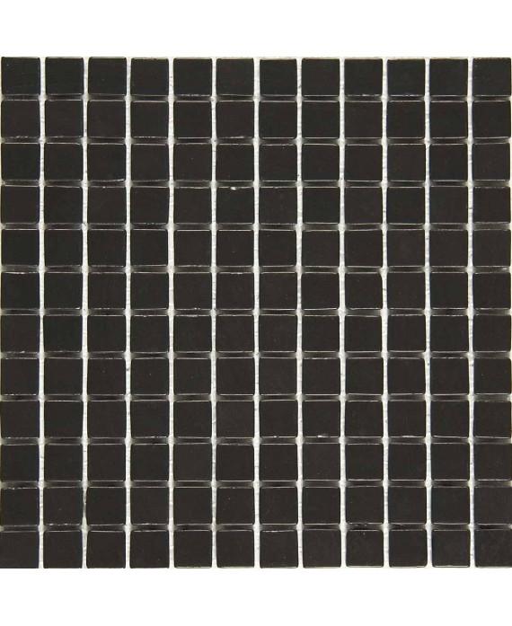 Emaux de verre mat noir piscine mosaique salle de bain urban ferro 2.5x2.5x0.4cm