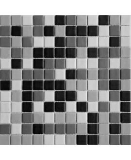 Emaux de verre couleurs mélangées mat piscine mosaique salle de bain urban grey 2.5x2.5 cm