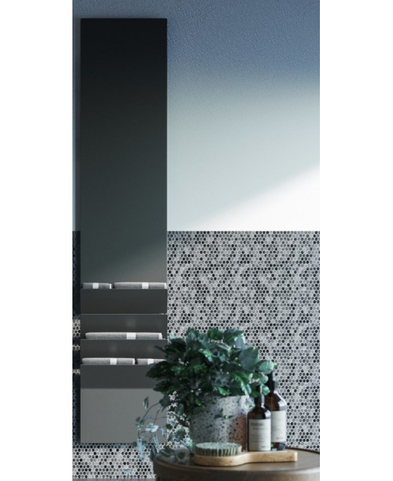 Sèche-serviette radiateur électrique design contemporain salle de bain AntflapsB 171x35cm de couleur