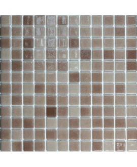Emaux de verre brun nuancé piscine mosaique salle de bain mosbr-5002 2.5x2.5 cm