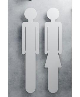 Sèche-serviette radiateur électrique, contemporain, design, salle de bain Antemma femme en blanc mat 172x34cm