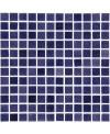 Emaux de verre piscine violet nuancé mosaique salle de bain mosbr-2002 2.5x2.5cm sur trame