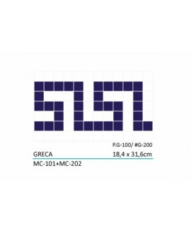 Frise en emaux de verre pour piscine greca 18.4x31.6cm