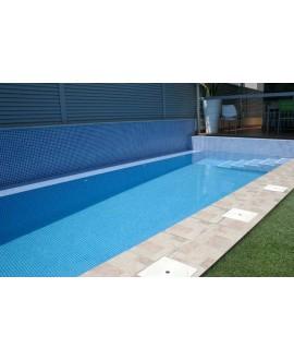 Emaux de verre bleu clair piscine mosaique salle de bain mosmc-203 2.5x2.5 cm sur trame.