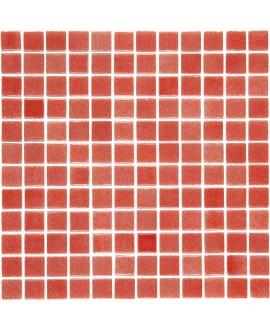 Emaux de verre rouge nuancé piscine mosaique salle de bain mosbr-9003 2.5x2.5cm sur trame.
