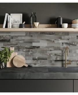Carrelage imitation marbre brillant foncé translucide rectifié salle à manger, santakoya océan