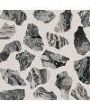 Carrelage imitation terrazzo et granito poli brillant noir 90x90cm rectifié, I santapalladian moon