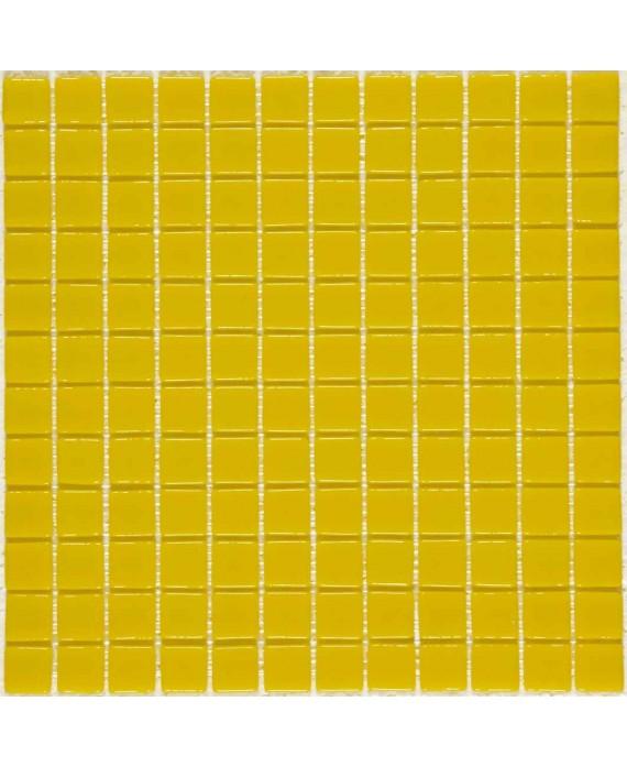 Emaux de verre jaune piscine crédence cuisine mosaique salle de bain mosmc-701 2.5x2.5cm sur trame.