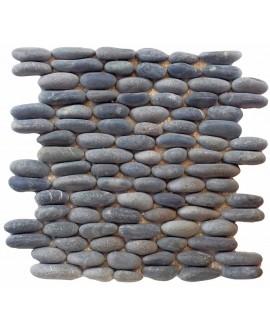 Galet calade gris sur trame 30x30cm, MO piedra canto gris, pour la salle de bains