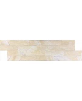parement en pierre MO fachaleta quartz arena 15x55x2cm