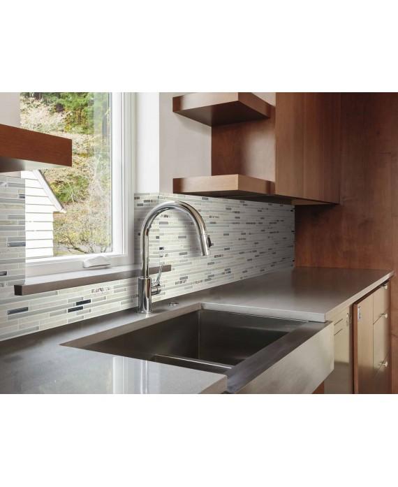 mosaique pierre métal verre crédence de cuisine, salle de bain molluvia beige 30x30 cm