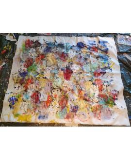 Tableau moderne, peinture contemporaine figurative, acrylique sur toile 198x167cm: foule8.