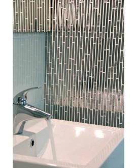 mosaique pierre métal verre crédence de cuisine, salle de bain molluvia inox 30x30 cm