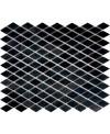 Mosaique salle de bain triangle marbre noir sur trame 39.2x32cm modiamond noir