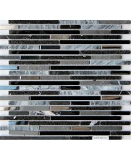 mosaique molluvia noir 30x30 cm