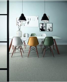 Carrelage salle à manger, imitation tissu, tapis, gris rectifié, santafineart.