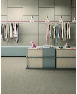 Carrelage magasin, imitation tissu, tapis, écru, rectifié, santafineart.
