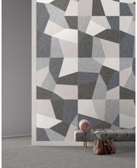 Carrelage imitation tissu, tapis, decor mural mix, rectifié, santadigitalart.