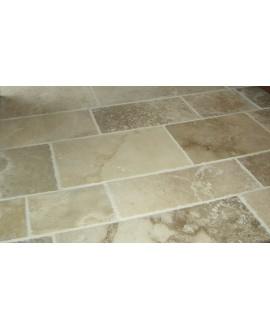 pierre du limeyrat en bandes largeur40,50 et 60cm  longueur libre , ocre et beige , finition vieillie chants taillés