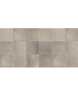 Carrelage imitation béton ciré mat dénuancé 80x80cm rectifié, savinnova taupe